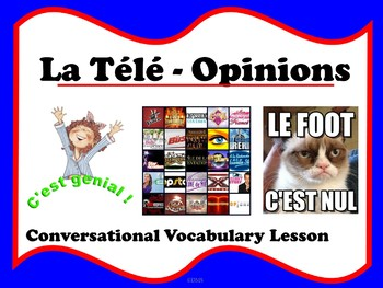 French Opinion Adjectives with TV shows