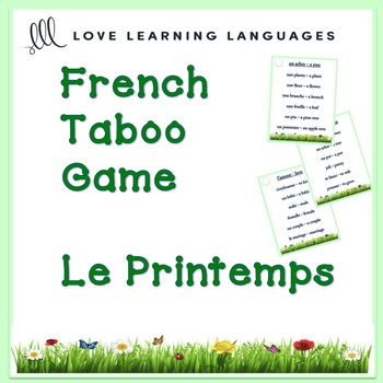 French PRINTEMPS Taboo Game