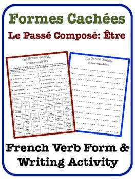 French Passé Composé Writing Activity (Verbs with Être)