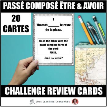 French Passé Composé with Être and Avoir Task Cards - Cart