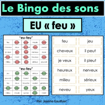 French Phonics Bingo: Le Bingo des sons: EU - feu