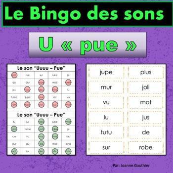 French Phonics Bingo: Short Uu/Le Bingo des sons: voyelle
