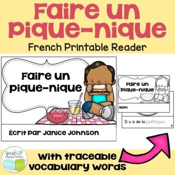 French Picnic Reader {Faire un pique-nique} & Cut & Paste