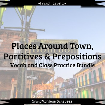 French Places Around Town Class Activities