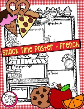 French Poster - Snack Time!