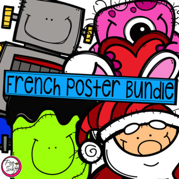 French Seasonal Posters Bundle
