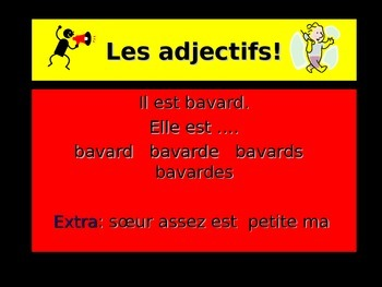 French Teaching Resources: PowerPoint: Adjectives.