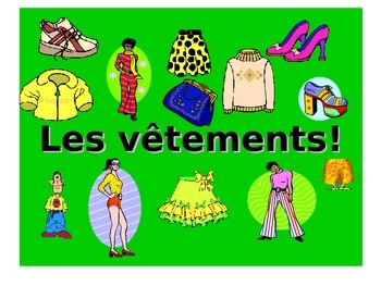 French Teaching Resources. PowerPoint Presentation: Clothes