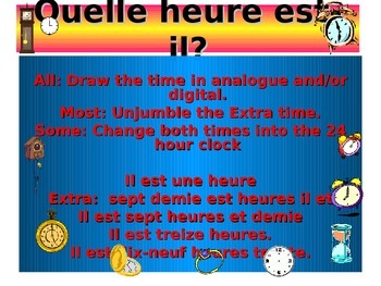 French Teaching Resources. PowerPoint Warmer/ Starter Acti