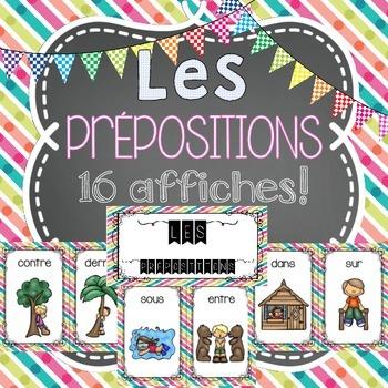 Les prépositions FRENCH POSTERS (16 affiches en français)