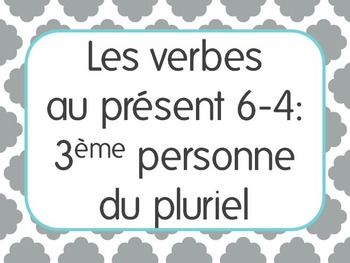 French Present Tense Lesson 4: 3rd person plural verbs -er