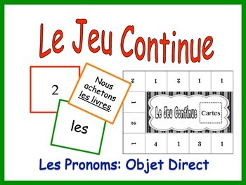 French Pronoun Activity for Groups: Direct Object Pronouns