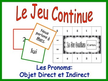 French Pronoun Activity for Groups: Direct and Indirect Ob