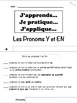French Pronouns (Y & En) Tab Book