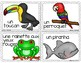 French Rainforest Animals Write the Room- Les animaux de l