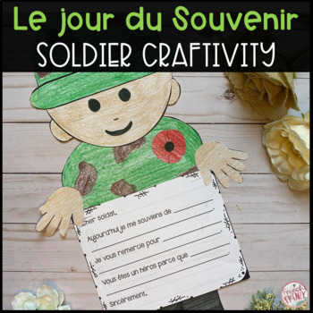 French Remembrance Day Activity - Soldat CRAFT (ACTIVITÉ: