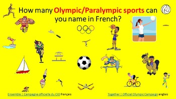 French  Resources. Rio 2016 Olympic/ Paralympic Games. Les