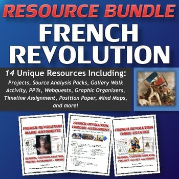 French Revolution - Resource Bundle (PPT's, Projects, Webq