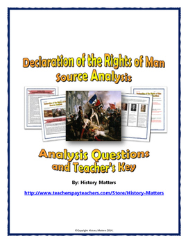 French Revolution - Declaration of the Rights of Man (Sour