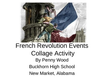 French Revolution Causes and Timeline Activities