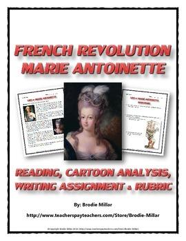 French Revolution - Marie Antoinette (Reading, Cartoon Ana