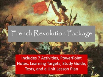 French Revolution Unit Notes, Activities, & Test Bundle