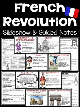 French Revolution Power Point- DBQ, Pictures, Video Links,