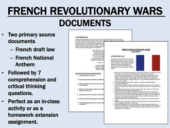 French Revolutionary War Documents - Global/World History
