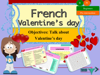 French Valentine's day, Saint Valentin PPT for beginners