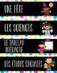 French Schedule Cards/Labels for Classroom Timetable (Hora