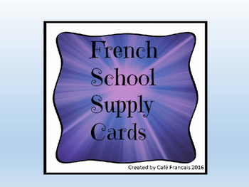 French School Supply Labels