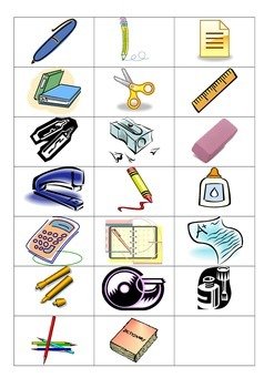 French School Supply Vocabulary Fast Grab Recognition Game