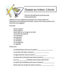 French School Treasure Hunt