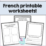 French September printables/Supply teacher worksheets