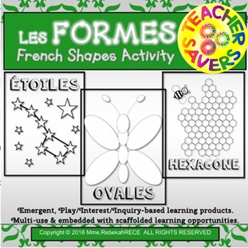French Shapes Activity Les Formes for Playdough, Coloring,