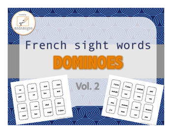 French Sight Words Dominoes vol. 2