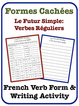 French Simple Future Writing Activity (Regular Verbs)