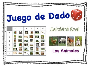 Spanish Animal Vocabulary Speaking Activity for Small Grou