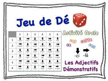 French Demonstrative Adjectives Speaking Activity for Smal