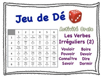 French Irregular Verbs Speaking Activity for Small Groups (2)