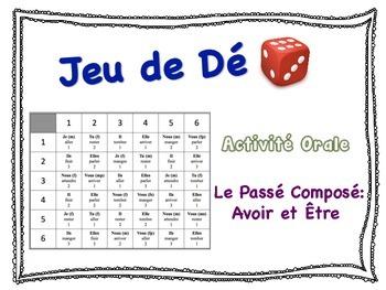 French  Passé Composé (être & avoir) Speaking Activity for
