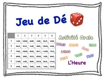 French Time Speaking Activity for Small Groups (Quick Prep)