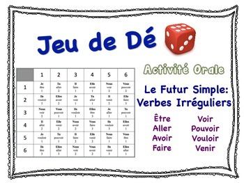 French Simple Future (Irregular Verbs) Speaking Activity f