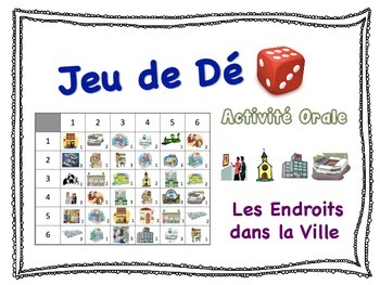 French City Places Speaking Activity for Small Groups (Qui