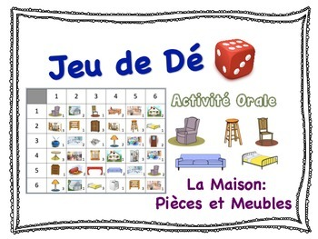 French Rooms & Furniture Speaking Activity for Small Group