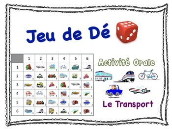 French Transportation Speaking Activity for Small Groups (