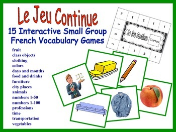 French Small Group Vocabulary Games, Inventive Twist on Me