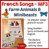 French Songs MP3 and Song Booklet - 11 songs - Farm Animal