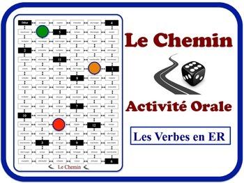 French ER Verbs Speaking Activity.  Quick Set-Up, No Prep