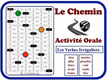 French Irregular Verbs Speaking Activity.  Quick Set-Up, N